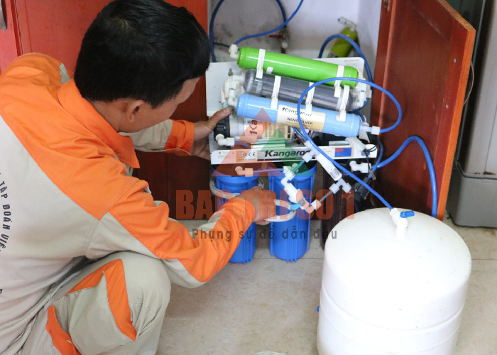 Sửa máy lọc nước kangaroo tại nhà - tìm hiểu về hiện tượng air khí